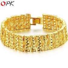 gold jewelry bracelet designs images Opk korean style 18k gold plated bracelet fashion gold plated jpg