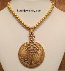 necklace gold jewelry images Simple antique gold necklace jewellery designs jpg