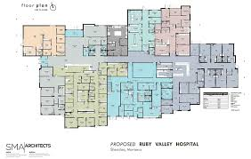 floor plan of hospital ruby valley medical center sheridan montana new hospital floor