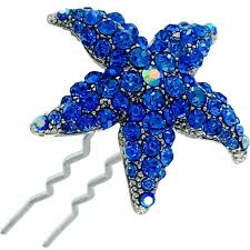 starfish hair clip starfish magnetic hair clip sea use swarovski gold ab