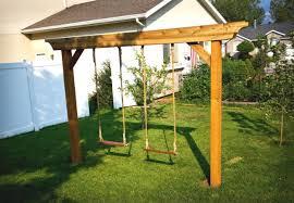Backyard Swing Ideas Diy Swing Set 5 Ways To Make Your Own Diy Swing Building