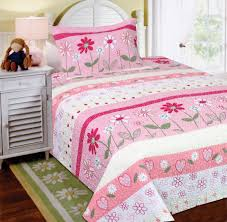 Girls Quilted Bedding by Amazon Com Mk Collection 2 Pc Bedspread Teens Girls Pink Floral