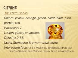 mineral guide in alphabetical order ppt