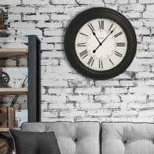westclox 24 in classic black oversized wall clock 32213vbk the