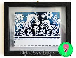 zebra papercut template svg dxf cutting file for cricut