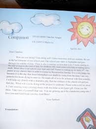 for compassion the importance of letter writing