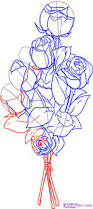 drawn bouquet easy pencil and in color drawn bouquet easy