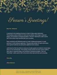 blue and gold snowflakes christmas letterhead templates by canva
