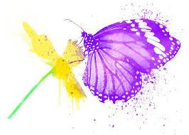 watercolor tattoos butterflies flowers peace signs cherries love