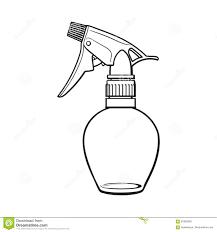 unlabeled transparent plastic hairdresser spray bottle sketch