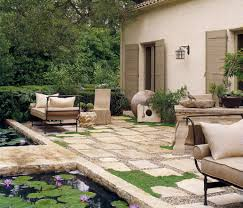 garden flooring ideas exterior design outdoor lighting with wall sconces and stone