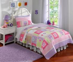 girls pink bedding sets colorblock pink owl bedding twin full queen quilt set set