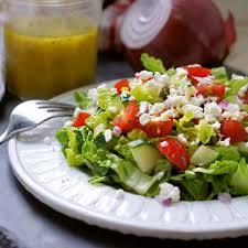 classic greek salad dressing made with garlic dijon mustard