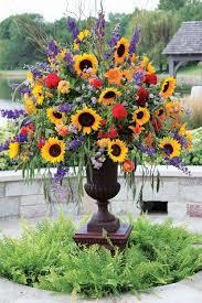 sunflower arrangements sunflower arrangement the sunflowers i planted in