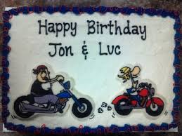 motorcycle birthday sheet cake cakecentral com