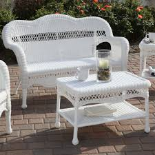 White Patio Furniture Sets Used White Wicker Furniture Casual White Wicker Outdoor