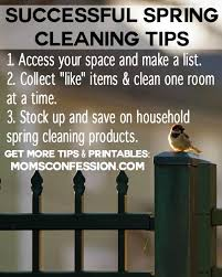 Spring Cleaning Tips Successful Spring Cleaning Tips