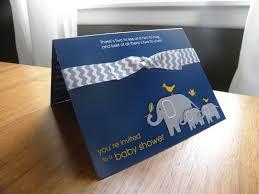 photo grey elephant baby shower invitations image