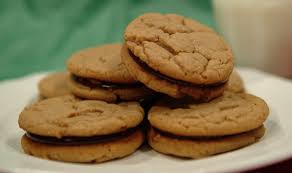 soft and chewy peanut butter and chocolate sandwich cookies