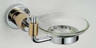 bathroom shoo holder soap dish holder chrome gold 8559g