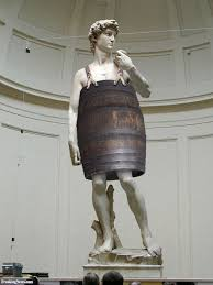 statue of david wearing a barrel pictures freaking news