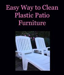 How To Clean Patio Chairs Easy Way To Clean Plastic Patio Furniture Running A Household