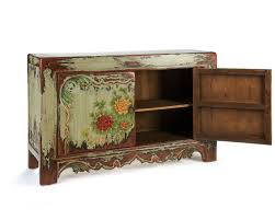 hand painted sideboard solid wooden furniture puji