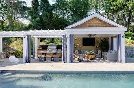 pool cabana curtains design ideas