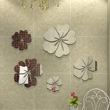 popular decoration ceiling buy cheap lots from diy mirror wall stickers nice decoration flowers sticker decor for living room bedroom