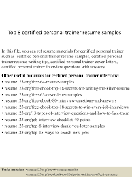 sample resume for fitness instructor personal trainer resume free resume example and writing download we found 70 images in personal trainer resume gallery