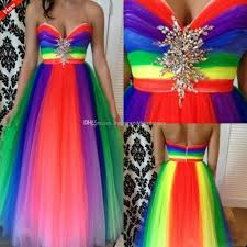 dw rainbow color 2016 beautiful prom dresses sweetheart beads