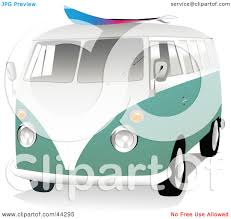 volkswagen hippie van clipart clipart illustration of a 3d green and white vw van with a surf