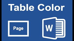 Change Table Color Ms Office Tutorial How To Add Or Change Table Border Color And
