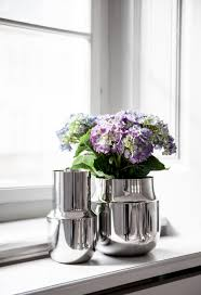 Vase Tall Tactile Vase Tall Stainless Steel Vases From Menu Architonic