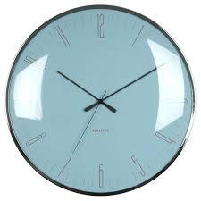 karlsson dragonfly wall clock blue minimalist wall clock