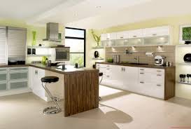 big modern kitchens white cabinetry and island with hardwood countertop also stools
