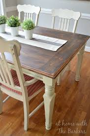 chalk paint farmhouse table farmhouse table makeover at home with the barkers