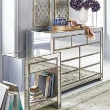 Bedroom Dresser Mirror Mirrored Furniture Mirrored Dresser Mirrored Nightstand Pier 1
