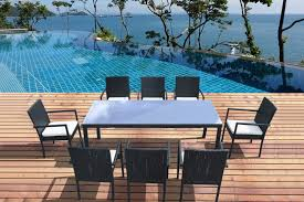 table de jardin r礬sine tress礬e et 8 chaises atlas