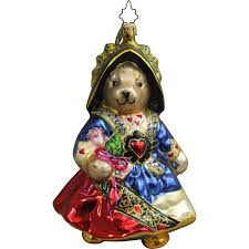 christopher radko ornament retired muffy of hearts