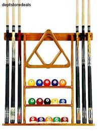 pool table wall rack pool table wall mount rack mahogany for 6 cues billiard balls racks
