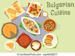 cuisine bulgare cuisine bulgare nourriture dîner conception icône