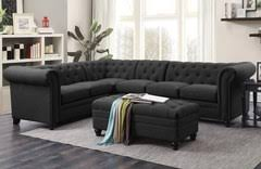 Tufted Sectional Sofas White Button Tufted Sectional Sofa With Armless Chair