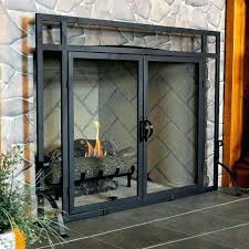 gas fireplace doors with blower glass venting covered front porch