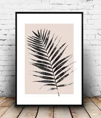 Pink Wall Decor by Palm Leaf Print Pink Botanical Poster Watercolor Art Modern