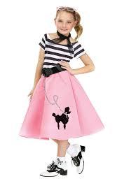 shop halloween costumes u0027s poodle dress with scarf u0026 belt girls 50s costumes poodle