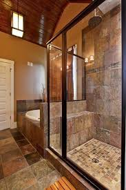 craftsman master bathroom with pendant light by luxe homes