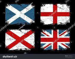 grunge flags scotland england ireland union stock vector 107506271
