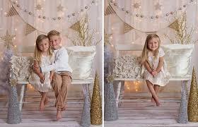 studio set up idea for christmas minis gold silver cream white