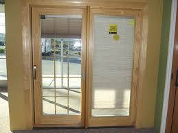 Glass For Sliding Patio Door Fabulous Sliding Glass Doors With Blinds Ideas For Throughout Door